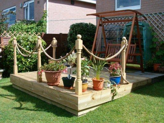 MJE Carpentry Decking - Garden decking rope