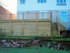 Finished large decking
