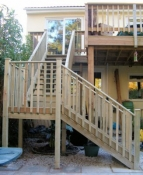 Custom Steps fited to Existing Decking